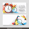 Back to school - Vector set of flat school banners