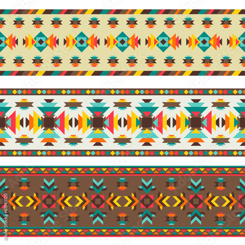 Ethnic seamless pattern in native style. - 61943120