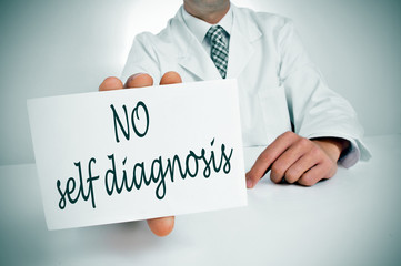 no self diagnosis