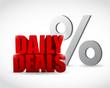 daily deals percentage sign illustration design