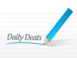 daily deals message illustration design