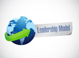 leadership model sign illustration design