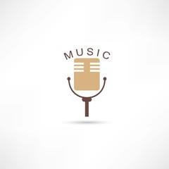 Studio mic grunge icon