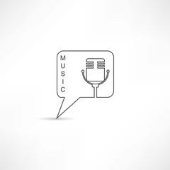 Mic into speech bubble