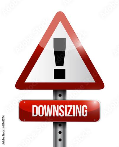 downsizing warning sign illustration design