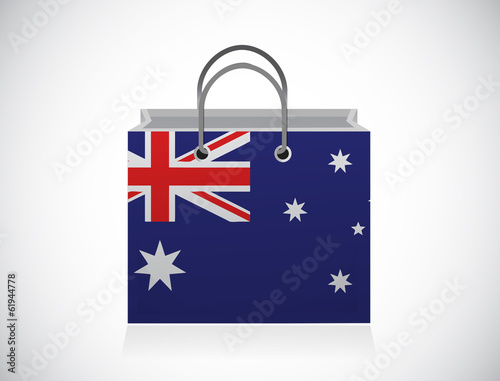 australian flag shopping bag illustration