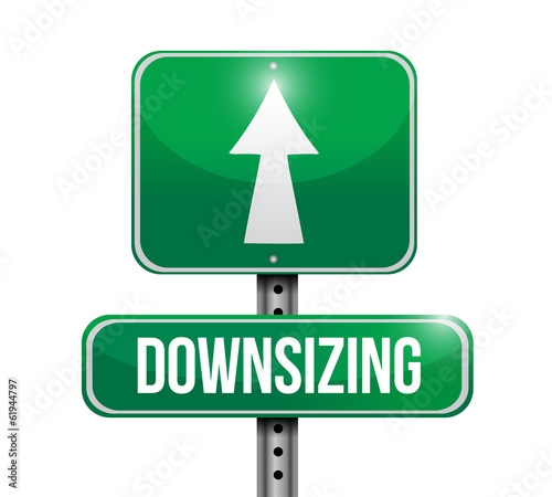 downsizing street sign illustration design