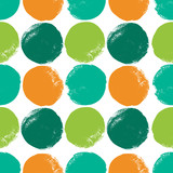 Abstract seamless pattern with grunge color circles