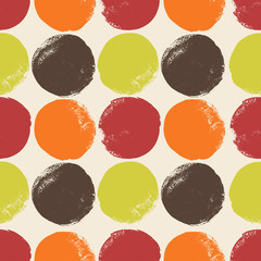 Abstract seamless pattern with grunge circles