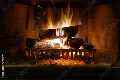 Fotobehang Vuur / Vlam Fireplace