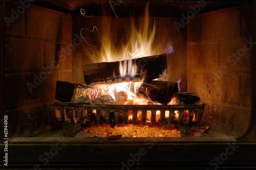 Papiers peints Feu, Flamme Fireplace
