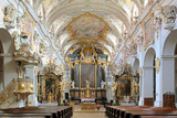 Interior of St. Emmeram's Basilica in Regensburg, Germany