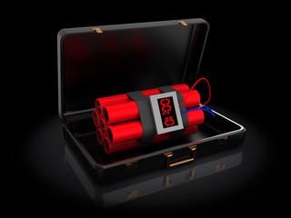dynamite in briefcase