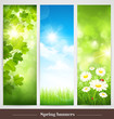 Spring banners. Vector