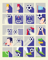 Flat Soccer Icon