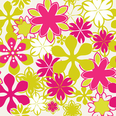 brightly Seamless floral pattern