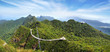Sky bridge on the mountain,  Langkawi, Malaysia.