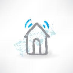 house grunge icon.