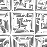Labyrinth seamless pattern