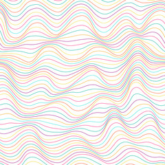 Seamless abstract pattern. Color waves