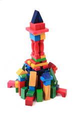 wooden bricks castle