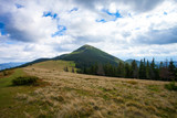Beautiful mountains landscape with sky in Carpathian