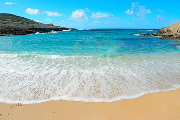 turquoise water and golden sand