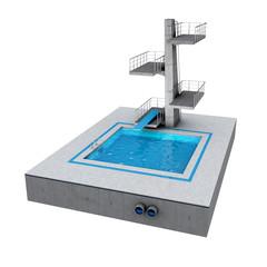 3D Icon Sprungturm