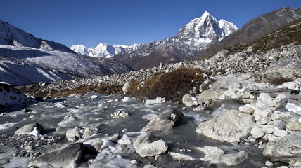 Beautiful mountain view of Everest Region,  Nepal
