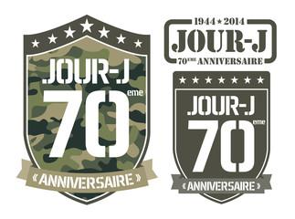 Ecusson 70ème anniversaire du Jour-J