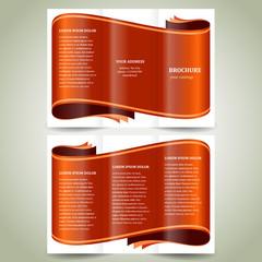 ribbon brochure design template vector