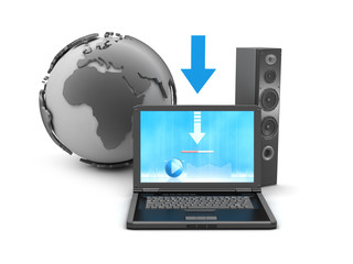 Symbols music downloads - concept illustration