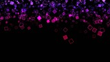 Abstract Falling Squares Background Animation - Loop Purple
