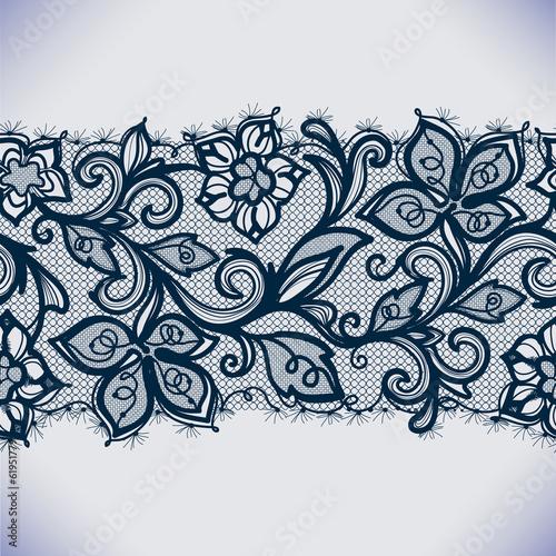 Abstract lace ribbon seamless pattern