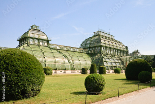 Palm pavilion in the park of Schonbrunn, Vienna, Austria