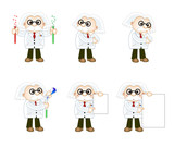 professor character in various poses