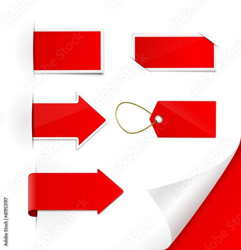 Schilder Set rot