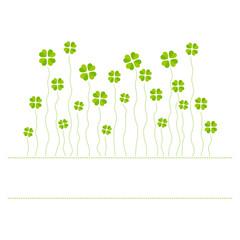 Vector illustration of cloverleafs