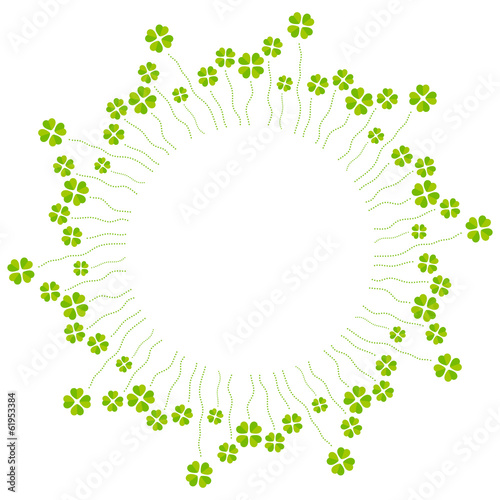 Vector illustration of cloverleafs, circle motive