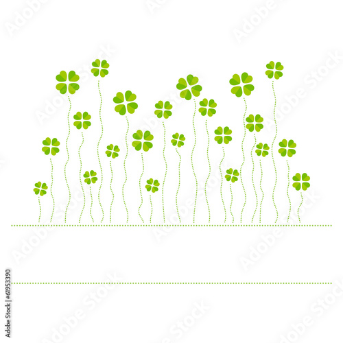 Vector illustration of cloverleafs