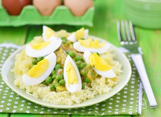 vegetables curry with eggs