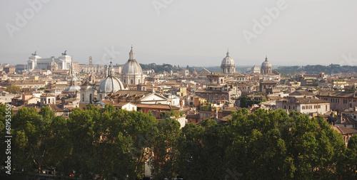 Foto op Canvas Mediterraans Europa Rome roofs