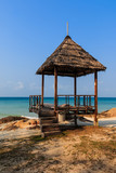 Gazebo wood in Koh Mon Nork ,Thailand