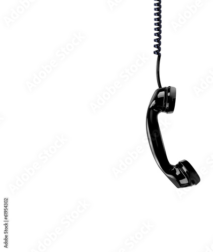 Handset on the white background