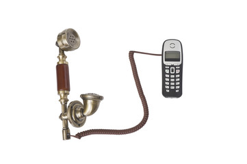 Handsets from old phone and from a cordlessphone