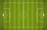 Soccer field lining vector template