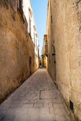 Deserted street in Mdina, Malta