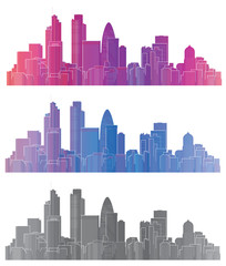 Vector colorful London city.