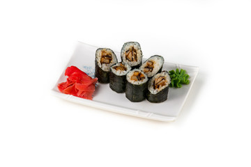 sushi closeup isolated