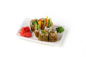 sushi closeup isolated